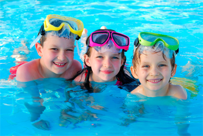 Happy Customers - Children swimming in pool